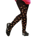 Brybelly Black Candy Corn Costume Tights, L