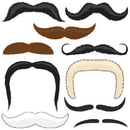 Brybelly Mr. Moustachio's Stach'oos, 10 Temporary Tattoo Mustaches