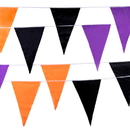 Brybelly Multi-color Halloween Pennant, 100-feet, 48 Flags