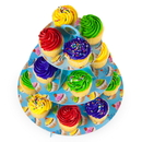 Brybelly Blue 3 Tier Cupcake Stand, 14in Tall by 12in Wide