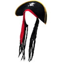 Brybelly Pirate Hat with Dreadlocks