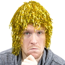 Brybelly Tinsel Wigs 6-pack, Gold