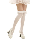 Brybelly White Ruffle Thigh-High Costume Tights