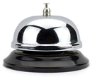 Brybelly 10cm Chrome Service Bell with Black Base
