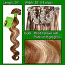 Brybelly #6/613 Chestnut Brown w/ Platinum Highlights - Body Wave