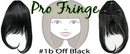Brybelly #1b Off Black Pro Fringe Clip In Bangs