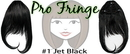 Brybelly #1 Jet Black Pro Fringe Clip In Bangs