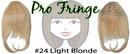 Brybelly #24 Light Blonde Pro Fringe Clip In Bangs