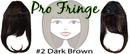 Brybelly #2 Dark Brown Pro Fringe Clip In Bangs