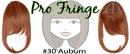 Brybelly #30 Auburn Pro Fringe Clip In Bangs