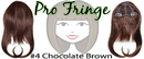 Brybelly #4 Chocolate Brown Pro Fringe Clip In Bangs