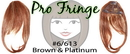 Brybelly #6/613 Chestnut Brown & Platinum Highlights Clip In Bangs
