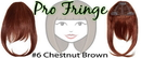 Brybelly #6 Medium Chestnut Brown Pro Fringe Clip In Bangs