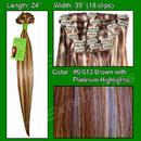 Brybelly #6/613 Chestnut Brown w/ Platinum Highlights - 24 inch REMI