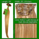 Brybelly #24/27 Light Blonde w/ Dark Blonde Highlights - 24 inch