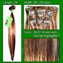 Brybelly #4/27 Dark Brown w/ Golden Blonde Highlights - 24 inch