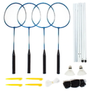Brybelly Complete 4-Player Badminton Set