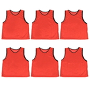 Brybelly 6-pack Adult Scrimmage Pinnies, Red