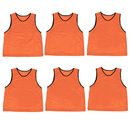 Brybelly 6-pack Adult Scrimmage Pinnies, Orange