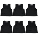 Brybelly 6-pack Adult Scrimmage Pinnies, Black