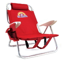 Brybelly 4-Position Folding Beach Chair, Red