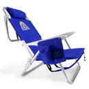Brybelly 4-Position Folding Beach Chair, Blue