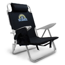 Brybelly 4-Position Folding Beach Chair, Black