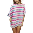 Brybelly Women's Sleek and Chic Stripped Beach Poncho
