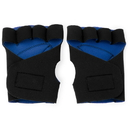 Brybelly Half Finger Padded Cycling Gloves, Blue