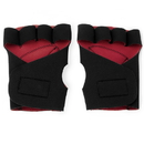 Brybelly Half Finger Padded Cycling Gloves, Red