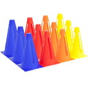 Brybelly 12-pack Collapsible Sport Cones, 4 Colors