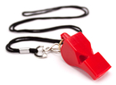 Brybelly Ultra Loud High Pitch Red Plastic Whistle