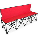 Brybelly 6-Foot Portable Folding 4 Seat Bench with Back, Red
