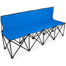 Brybelly 6-Foot Portable Folding 4 Seat Bench with Back, Blue