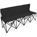 Brybelly 6-Foot Portable Folding 4 Seat Bench with Back, Black