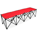 Brybelly 6-Foot Portable Folding 4 Seat Bench, Red