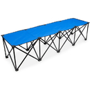 Brybelly 6-Foot Portable Folding 4 Seat Bench, Blue