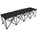 Brybelly 6-Foot Portable Folding 4 Seat Bench, Black