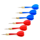 Brybelly 6 Pack Red & Blue Steel Tip Brass Dart Set