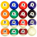 Brybelly Precision Engineered Billiard Balls Full Set of 16 Balls