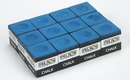 Brybelly Box of 12 Blue Cubes of Pool Cue Chalk