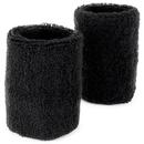 Brybelly Wrist Sweatbands 2-pack, Black