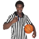 Brybelly Men's Official Striped Referee/Umpire Jersey, XXL