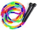 Brybelly Rainbow 7-Foot Jump Rope with Plastic Beaded Segmentation