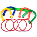 Brybelly Plastic Horseshoe and Ring Toss Game Set (2 in 1)