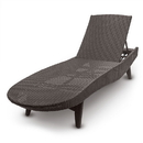 Brybelly Resin Wicker Chaise Lounge, Mocha Brown