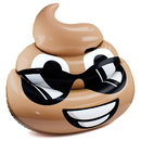 Brybelly 5.5-foot Dreamy Deuce Poop Emoji Pool Float