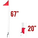 Brybelly 4 Pack of Soccer Corner Flags