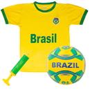 Brybelly Brazil National Team Kids Soccer Kit X-Large