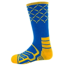 Brybelly Large Basketball Compression Socks, Blue/Gold